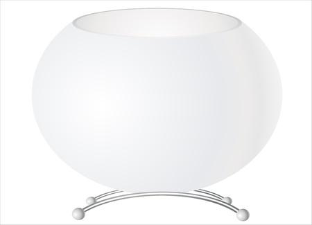 White vase, isolated on white Stock Vector - 17483918