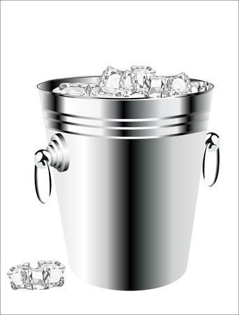ice bucket on white background Stock Vector - 17484053