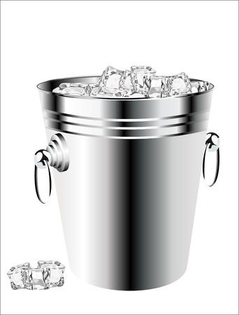 ice bucket on white background Stock Vector - 17484053