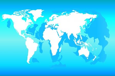 World Map Stock Vector - 17754505