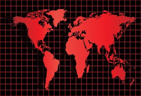 World Map Stock Vector - 17754508