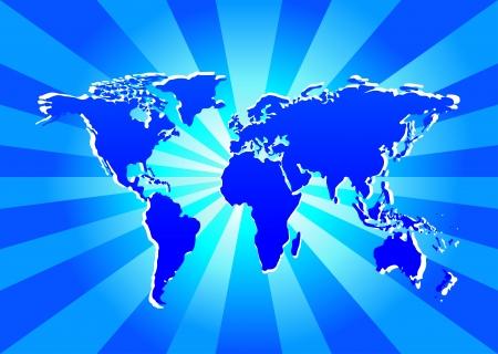 World Map Stock Vector - 17754513