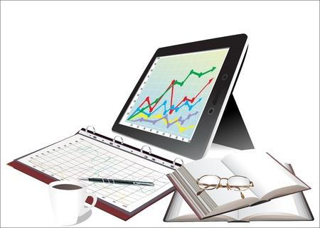 modern office desktop Vector