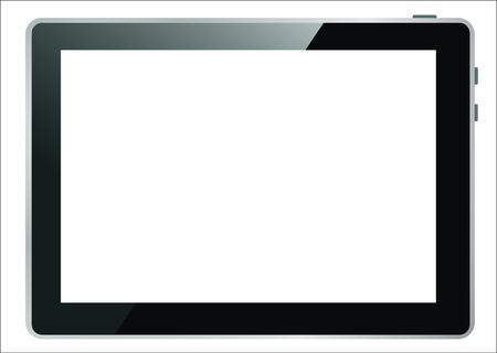Realistic tablet pc computer with blank screen isolated on white background   Stock Vector - 17753608