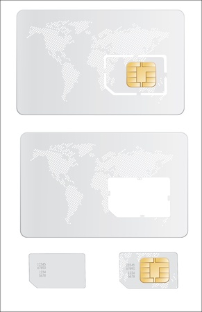 Sim card  Stock Vector - 17753669
