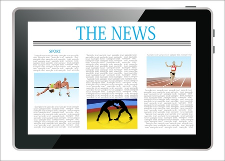 Sport news on generic Tablet PC Stock Vector - 17753392