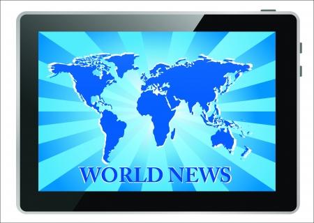 News on generic Tablet PC  Vector illustration Stock Vector - 17753384