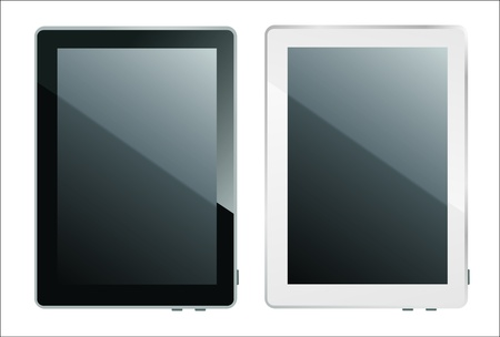 Tablet pc white and black Stock Vector - 17753202