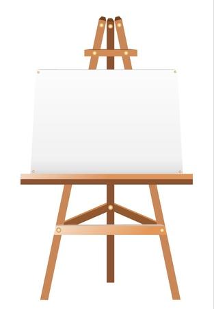 whiteboard: Een witte doek op een ezel