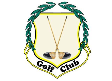 Golf clubs emblem Stock Vector - 17752208