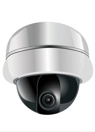 seguridad industrial: vigilancia con c�maras Vectores
