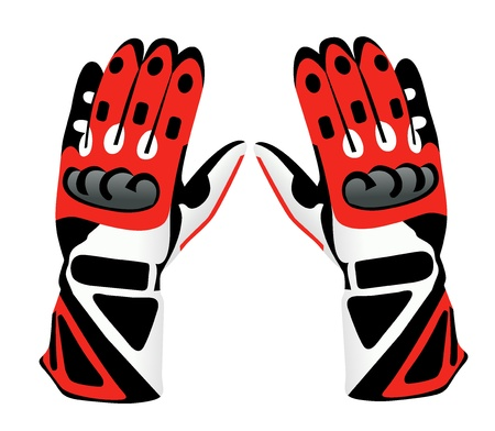 Motorcycle gloves Vector