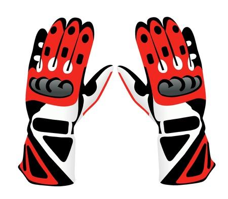 Motorcycle gloves Illustration