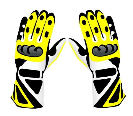 Motorcycle gloves Illustration