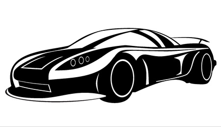 Car silhouette on a white background Stock Vector - 17751909