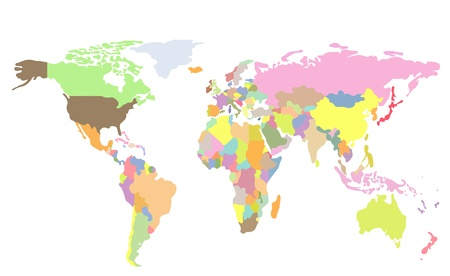 Detailed world map of rainbow colors names town marks and national detailed world map of rainbow colors names town marks and national borders are in separate gumiabroncs Image collections