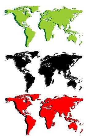 World map Stock Vector - 17751919