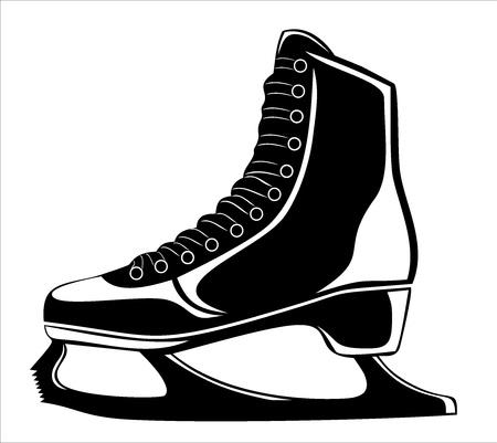 skates for figure skating Stock Vector - 17751860