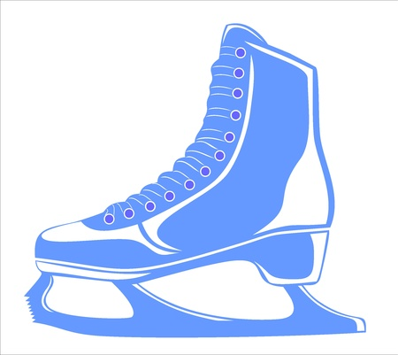 skates for figure skating Stock Vector - 17751861