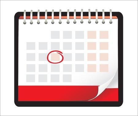 illustration of detailed beautiful calendar icon Stock Vector - 18438281