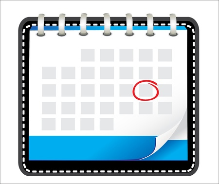 illustration of detailed beautiful calendar icon Stock Vector - 18438730