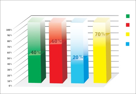 3D Business charts Stock Vector - 18438690