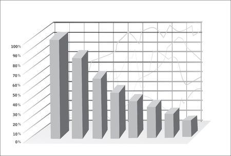 3D Business charts Stock Vector - 18438734