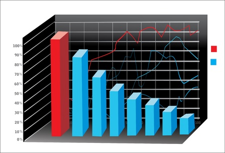 3D Business charts Stock Vector - 18438706