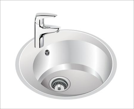 washbowl: kitchen sink Illustration