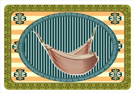 Garlic card vintage
