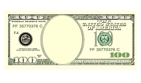 one dollar bill: hundred dollar bill