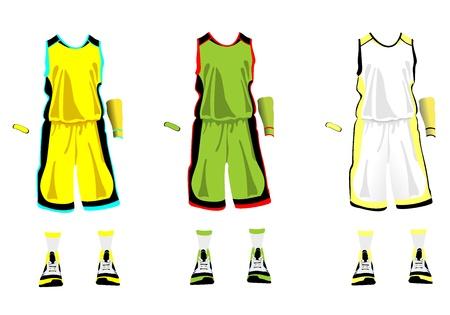 overdracht: Sport serie Realistische team basketbal uniform Stock Illustratie