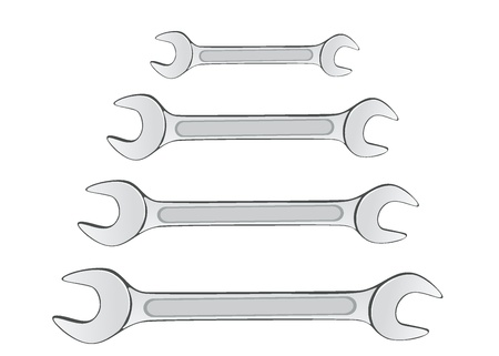 forkwrench: hand wrench tool or spanner