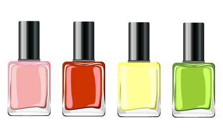 Varnish for nail insulated on white background Illustration