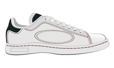 White sneaker Stock Vector - 18464100