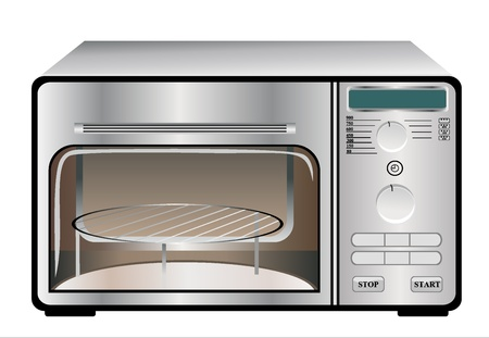 microwave oven on a white background Stock Vector - 18463858