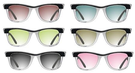 glasses set  Stock Vector - 18463862