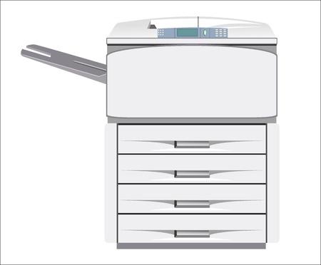 impresora: Gris impresora de ordenador aislado