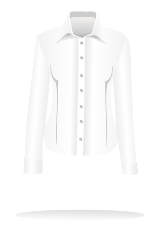 formal shirt: Formal shirt with button down collar and long sleeves Illustration
