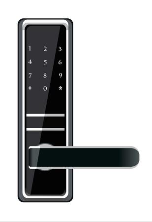 Door handle electronic lock Stock Vector - 18463412