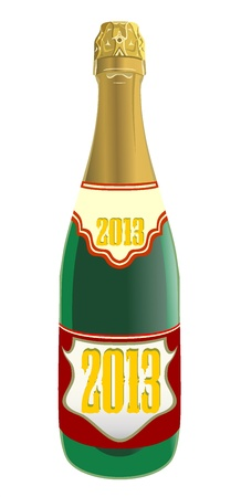 Bottle of champagne Stock Vector - 18461607