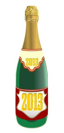 Bottle of champagne Stock Vector - 18461607