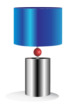 table lamp isolated on white Illustration