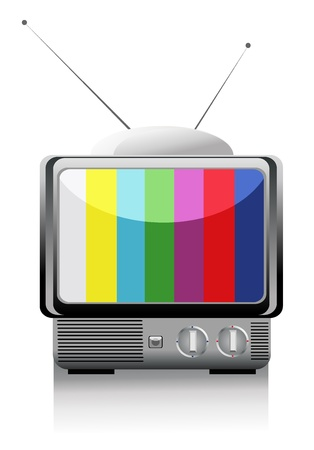 illustration of retro tv Vector