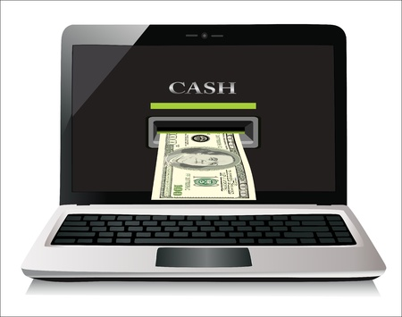 netbooks: Online payments concept Isolated on white background 3d rendered