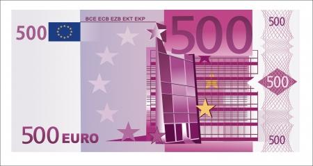 Geïsoleerde 500 euro biljet
