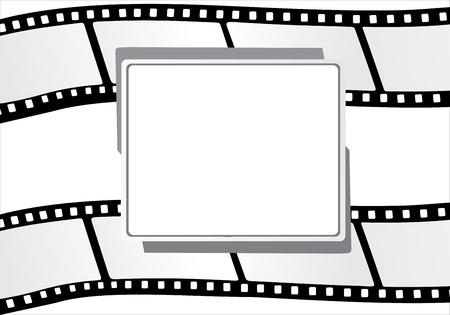 gray strip: Film strip design text box