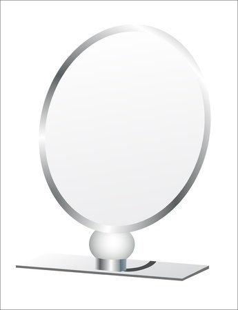 penumbra: silver makeup mirror isolated on white