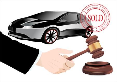 adjudicate: Sold the car