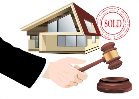 adjudicate: Sold the house
